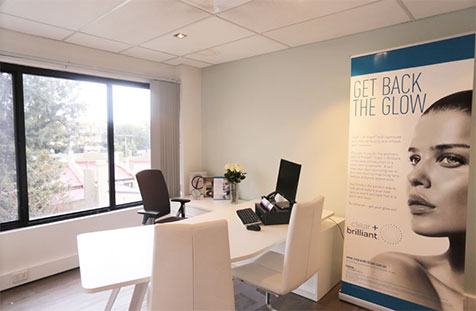 Consultation room for treatments like anto wrinkle injections, dermal fillers and anti-ageing
